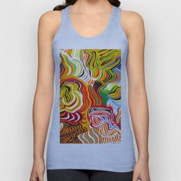 colored flow Unisex Tank Top