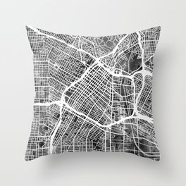 Los Angeles City Street Map Throw Pillow