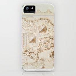 Topographic map of part of the Memphite Necropolis iPhone Case