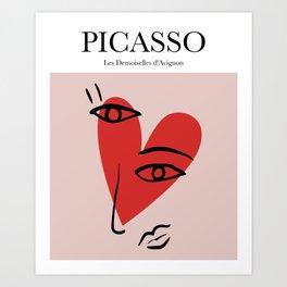 Picasso - Les Demoiselles d'Avignon Art Print