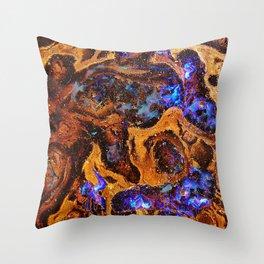 Boulder Opal Abstract Throw Pillow