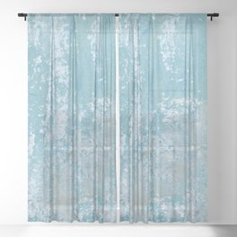Vintage Galvanized Metal Sheer Curtain