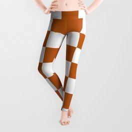 Checker Texture  (Bronze & White) Leggings