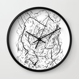 One hand in two pockets. Wall Clock