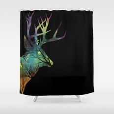 Space Deer Shower Curtain