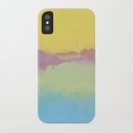 Modern Pastel Pallet Abstract Design iPhone Case