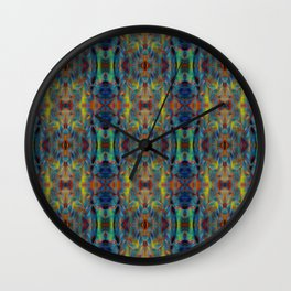 Colorful abstract symmetrical pattern  Wall Clock