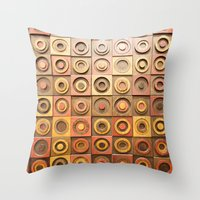 reassurance Throw Pillows featuring wood work by Magdalena Hristova