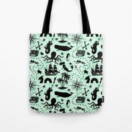 High Seas Adventure // Sea-Green Waves Tote Bag