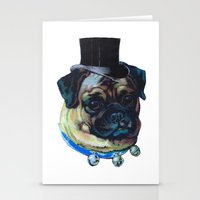 pugs Stationery Cards featuring Sir Pugs by Bonnie J. Breedlove