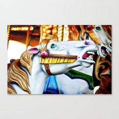 Merry Go Round Horse Canvas Print