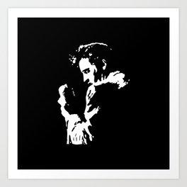Elvis stencil Art Print