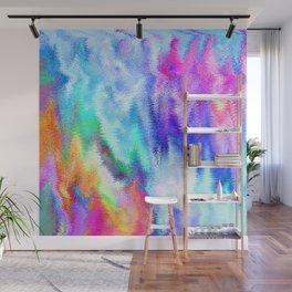 Vibrating Glitch Rainbow Wall Mural