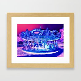 Carousel Merry-Go-Round Pink Purple Framed Art Print
