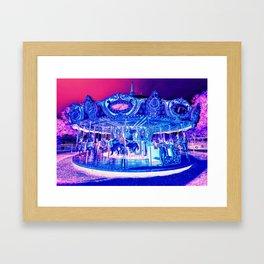 Carousel Merry-Go-Round Pink Purple Framed Art Print