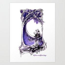 A Midsummer Night's Dream - Puck and Titania - Shakespeare Illustration Art Art Print