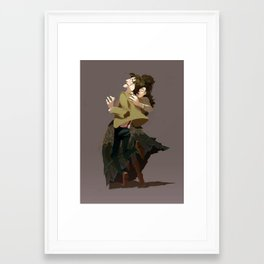Bitey Mad Lady Framed Art Print