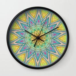 Burst Mandala 0118 Wall Clock