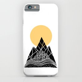 Sun Over The Mountains iPhone Case