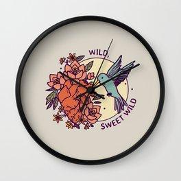 Wild, Sweet Wild Wall Clock