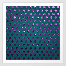 Polkadots Jewels G195 Art Print