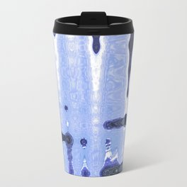 Abstract in blue Travel Mug