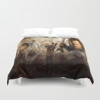 the lord of the rings Duvet Covers featuring lord of the rings,the hobbit by ira gora