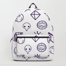 evangelion nerv angels pattern white Backpack