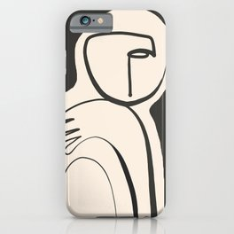 Lady Portrait Abstract Minimal  Line Art iPhone Case