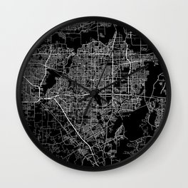 Arlington map Texas Wall Clock