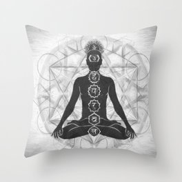 The Geometry of Life Throw Pillow