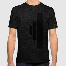 SOMEWHERE IN NOWHERE Tri-Black Mens Fitted Tee LARGE