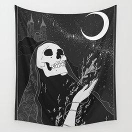 Mugwort Moon Original by Moon Goddess MArket Wall Tapestry