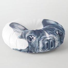 French Bull dog Dog illustration original painting print Floor Pillow