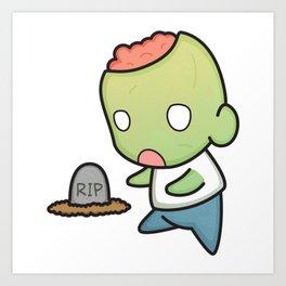 Zombie Hugs Art Print