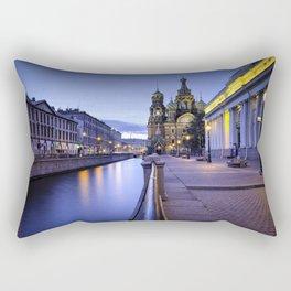 Saint Petersburg at Night Rectangular Pillow