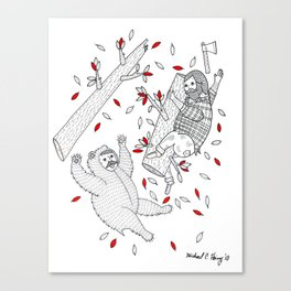 A scene in which tree-climbing has gone too far. Canvas Print