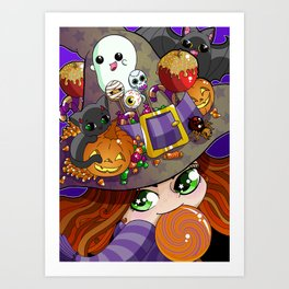 Candy Witch Art Print