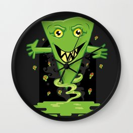 Triangle Swamp Monster Wall Clock