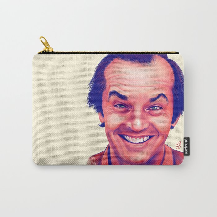 Young Jack Nicholson and the evil smile - digital painting Carry-All Pouch