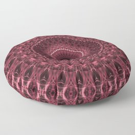 Red and pink mandala Floor Pillow