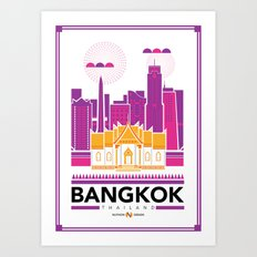 City Illustrations (Bangkok, Thailand) Art Print