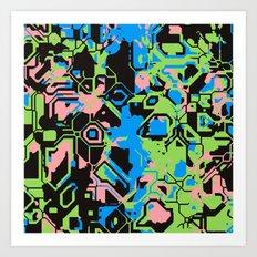 TronColor Art Print