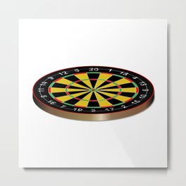 Classic Typical Darts Board Metal Print