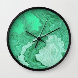 Sea of Malachite Wall Clock