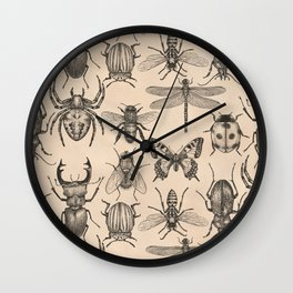 Bugs and insects Wall Clock