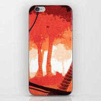 forrest iPhone & iPod Skins featuring Dawn forrest by Rafael T. Pimentel