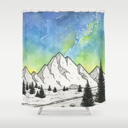 Mountain Skies Shower Curtain