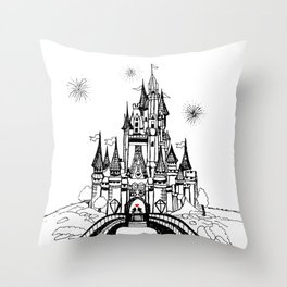 Mouse in Love Throw Pillow
