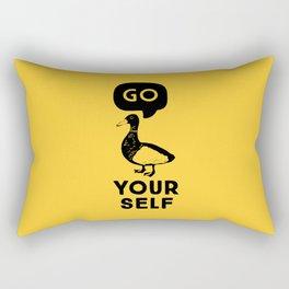 Go Duck Yourself Rectangular Pillow